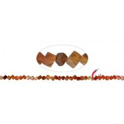 Strang Würfel Carneol (erhitzt) 3 mm