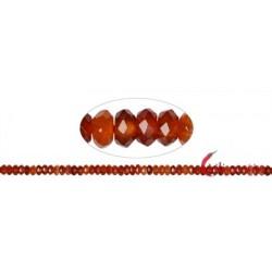 Strang Button Carneol (erhitzt) 6 x 8 mm