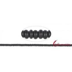 Strang Button Onyx (gefärbt) matt 3 x 6 mm