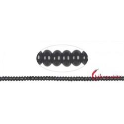 Strang Button Onyx (gefärbt) 3 x 6 mm