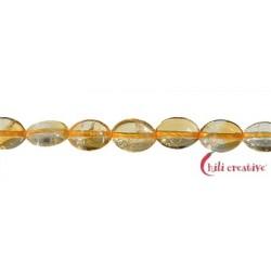 Strang Linsen Citrin (erhitzt) 8 x 6 mm