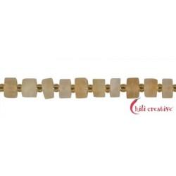 Strang Scheibe Wheel Shape Citrin (erhitzt) matt 3-5 x 6-8 mm