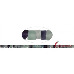 Strang Zylinder Fluorit matt 3-4 x 5-6 mm