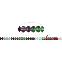 Strang Button Fluorit (bunt) 6 x 8 mm