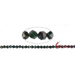 Strang Kugeln Heliotrop facettiert (Starcut) 5-6 mm