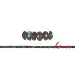 Strang Button Labradorit AAA facettiert 7 mm (42cm)