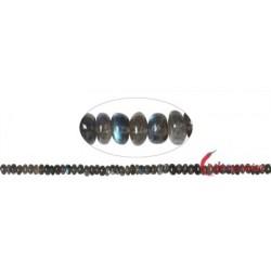 Strang Button Labradorit AAA 3 x 6-7 mm (43cm)