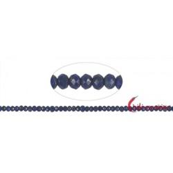 Strang Kugel/Button Lapislazuli A facettiert 3 x 3 mm