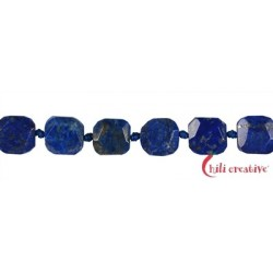Strang Quader Lapislazuli AB facettiert 12-14 x 12-14 mm