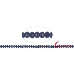 Strang Button Lapislazuli A+ facettiert 3 x 5 mm