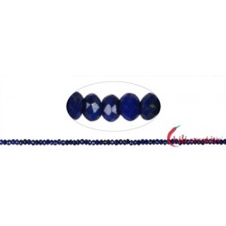 Strang Button Lapislazuli A+ facettiert 2 x 3 mm