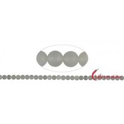 Strang Kugeln Mondstein (silbergrau) matt 6 mm (38 cm)