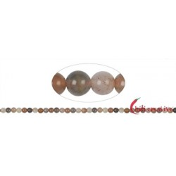 Strang Kugeln Mondstein (bunt) 6 mm