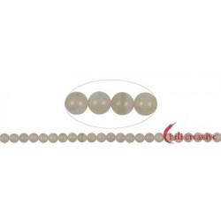 Strang Kugeln Labradorit/Mondstein (weiß) 6 - 8 mm
