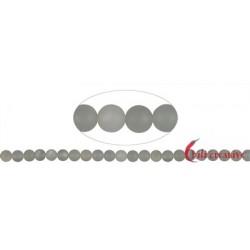 Strang Kugeln Mondstein (silbergrau) matt 8 mm (38 cm)