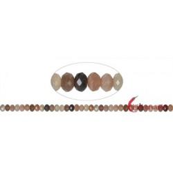 Strang Button Mondstein (bunt) facettiert 5 x 8 mm