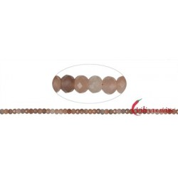 Strang Button Mondstein facettiert 4 x 6 mm