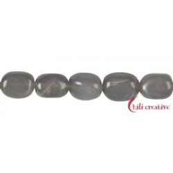 Strang Nuggets Mondstein (dunkelgrau) 15-16 x 10-12 mm
