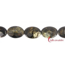 Strang Linse Muskovit-Glimmer facettiert 25 x 18 mm