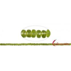 Strang Button/Scheibchen Peridot facettiert 2 x 5-6 mm