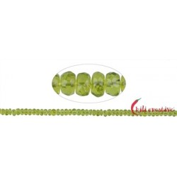 Strang Button Peridot facettiert 3 x 5 mm