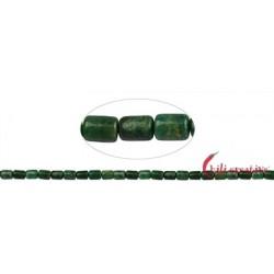 Strang Zylinder Budstone (Grünschiefer) 8 x 6 mm
