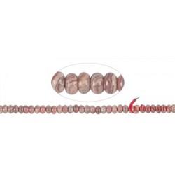 Strang Button Rhodochrosit B 4-5 x 8 mm