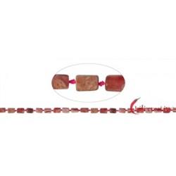 Strang Zylinder Rhodochrosit facettiert 8-10 x 5-6 mm (42cm)