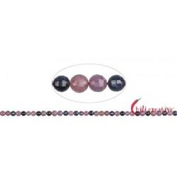 Strang Kugeln Saphir/Rubin facettiert 5 mm
