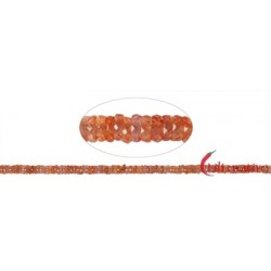 Strang Roundell Saphir (orange) facettiert 1 x 3-5 mm