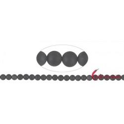Strang Kugeln Turmalin schwarz (stab.) matt 8 mm