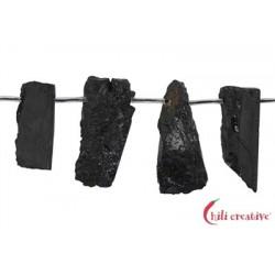 Strang Platten Turmalin schwarz (stab.) 10-25 x 25-55 mm