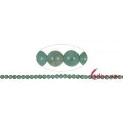 Strang Kugeln Smaragd 5 mm