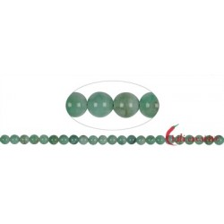 Strang Kugeln Smaragd 7 mm