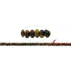 Strang Button Tigerauge 4 x 6 mm
