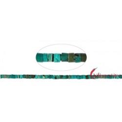 Strang Zylinder Heishi Türkis (stab.) 2-4 x 4 mm