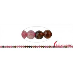 Strang Kugeln Turmalin (bunt/pink) 4 mm