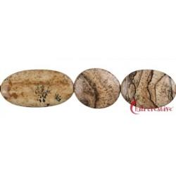 Strang Scheiben Marmor Landschafts- 15-25 x 13 mm