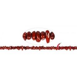 Strang Splitter Jaspis rot 2-4 x 5-10 mm (88cm)