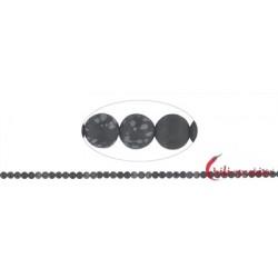 Strang Kugeln Obsidian Schneeflocke matt 4 mm (38cm)