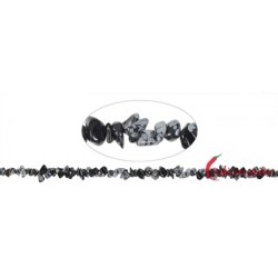 Strang Splitter Obsidian Schneeflocke 2-4 x 5-10 mm (88cm)