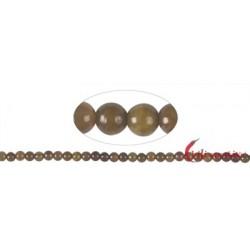 Strang Kugeln Serpentin (braun) 5-6 mm
