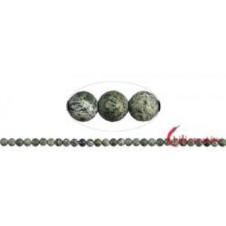 Strang Kugeln Serpentin (Silberauge) matt 6 mm