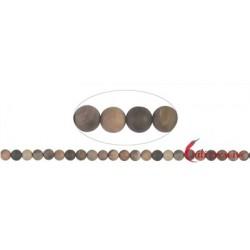 Strang Kugeln versteinertes Holz matt 8 mm (38cm)