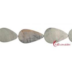 Strang Tropfen flach Marmor Picasso 30-40 x 22-25 mm