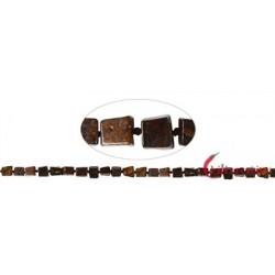 Strang Würfel Bronzit 6-8 x 6-8 mm (43cm)