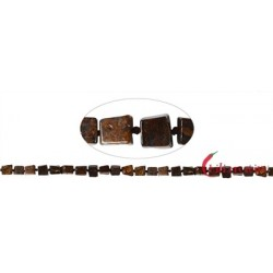 Strang Würfel Bronzit (Ferro-Enstatit) 6-8 x 6-8 mm (43cm)
