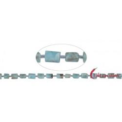 Strang Freeform Zylinder Larimar 8 x 6-7 mm