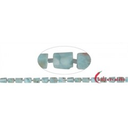 Strang Freeform Zylinder Larimar 8-10 x 7-8 mm