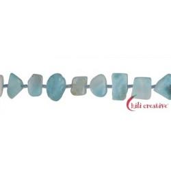 Strang Freeform flach Larimar 8-10 x 8-10 mm